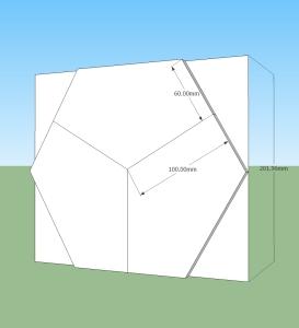 An hexagonal arrangement of three braces speeded up cutting these.